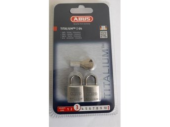 Hänglås/ABUS - 64TI/20 Titalium Padlock 20mm Keyed Alike (2 pc)