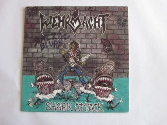 Wehrmacht -Shark Attack lp 1987 Original speed metal classic