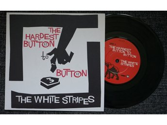 "white stripes ""the hardest button to button"" (""7, PS) mint"