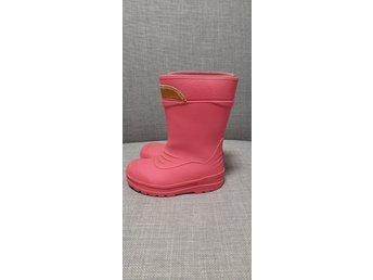 KAVAT   gummistövlar   Neon rosa   strl 24   gr.. (407851437