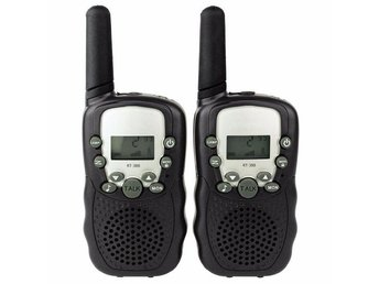 2st T388 Svarta Walkie Talkies Jaktradio Radio Amatörradio