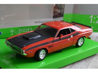 1970 Dodge Challenger T/A 1:24 Welly Nex Models Orange/Röd Metallic Ny - Vännäs - 1970 Dodge Challenger T/A 1:24 Welly Nex Models Orange/Röd Metallic Ny - Vännäs