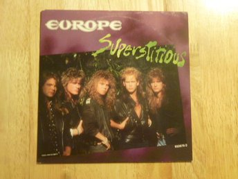 "EUROPE - Superstitious  Epic Holland -88 7"" singel"