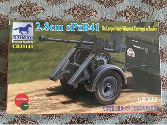Bronco Models - 2.8cm sPzB41 on larger steel-wheeled carriage.. 1/35