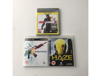 PlayStation 3, Spel, Just Cause 2, Bodycount, Haze