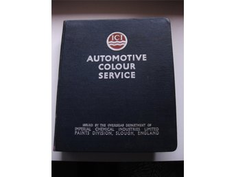 Rare Coulourbook Automotive Colour Service Car productions from 1958 - 1960