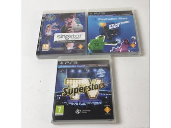 Sony, PS3 Spel, Superstars, Singstar, Playstation Move, 3 st