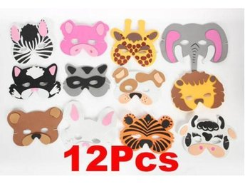 NY! 12Pcs Soft EVA foam Barn animals Mask