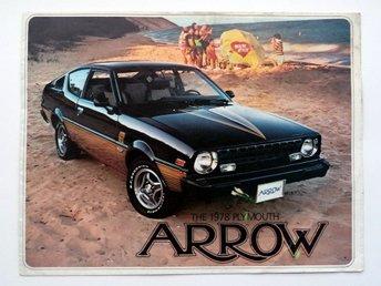 Broschyr 1978 Plymouth Arrow - försäljnings katalog - catalogue - Farsta - Broschyr 1978 Plymouth Arrow - försäljnings katalog - catalogue - Farsta