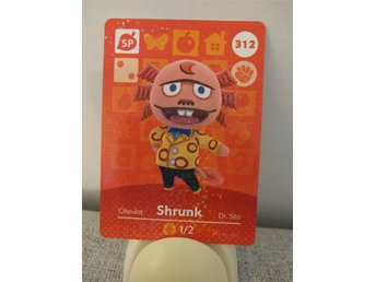 Animal Crossing Amiibo Welcome Amiibo card nr 312 Shrunk