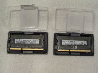 2 x 2GB DDR3-1333 PC3-10600 256x64 CL9 1.5V SODIMM  Dell(m.fl.) notebook minne