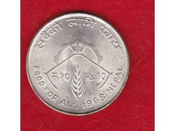 NEPAL  silvermynt  / nice silver coin