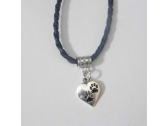 Hjärta och tass halsband / Heart and paws necklace