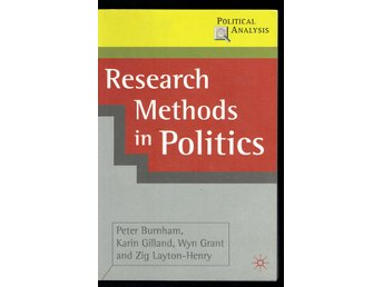 Research Methods in Politics - Peter Burnham m.fl. (eng)