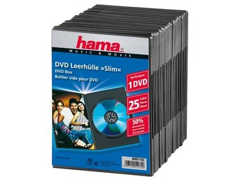 HAMA DVD-Box Slim Svart 25-pack