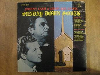 Johnny Cash & Jerry Lee Lewis- Sunday Down South (LP) USA Press på Sun Records