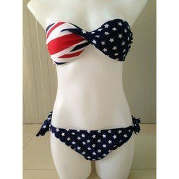 Badkläder Bikini UK Flagga England Twistad Medium/Large M/L