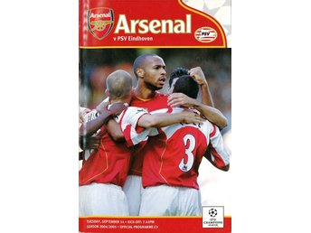 Arsenal - PSV Eindhoven (Champions League - 14.9.2004)