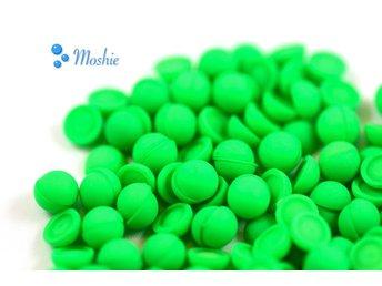 400 Halvpärlor, 6 mm, neon lime, pärlimitation, cabochons. - örebro - 400 Halvpärlor, 6 mm, neon lime, pärlimitation, cabochons. - örebro