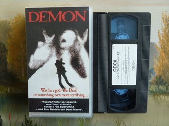 DEMON, SKRÄCK, VHS, SVENSK TEXT, VIDEOKASSETT, FILM