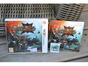 Monster Hunter Generations 3DS Nintendo Komplett Fint Skick