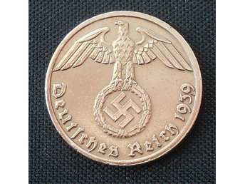 Nazi Tyskland 1 Rpf mynt 1938 D original - Södertälje - Nazi Tyskland 1 Rpf mynt 1938 D original - Södertälje