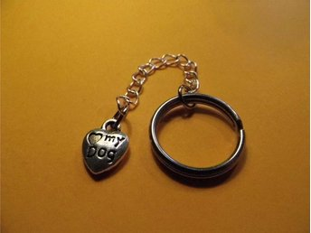Love my dog hjärta nyckelring / Love my dog heart keyring