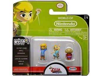 World of Nintendo Micro Land Series 4 Outset Link, Aryll & Grandma Mini Figure 3
