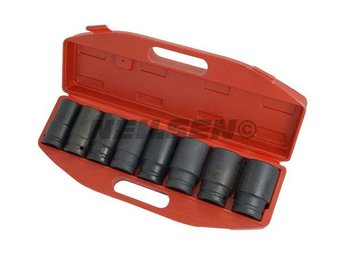 "8PC 3/4"" SQUARE DRIVE DEEP IMPACT SOCKET SET For Garage Air Wrench Tool )"