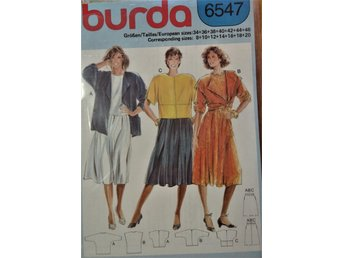 Symönster, burda 6547
