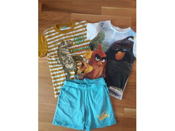 Klädpaket - 2-shorts + shorts Angry Birds Red