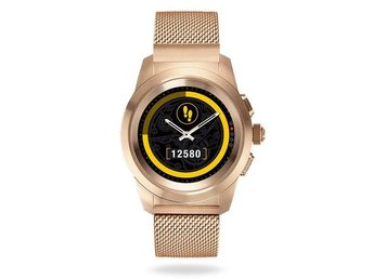 MyKronoz ZeTime 44mm Hybrid Smartwatch /w Milanese band /Pink Gold
