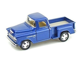 Robetoy Bilar Cars 13cm 61207 metall 1:36 - Chevy Stepside Pick-Up 1955 Blå