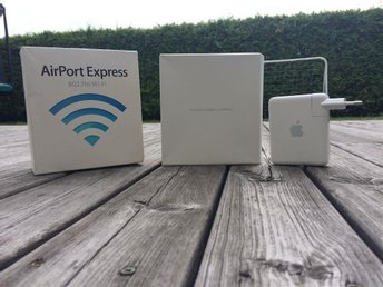 Apple AirPort Express router till mac och pc installationsmanual ingår