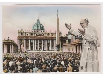 ST. PETERS SQUARE POPE PIUS XII MID 1950,s POSTCARD VKORT - Västra Frölunda - ST. PETERS SQUARE POPE PIUS XII MID 1950,s POSTCARD VKORT - Västra Frölunda