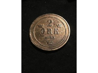 1900 prick Sverige koppar mynt uber fint skick extremt fin - Skutskär - 1900 prick Sverige koppar mynt uber fint skick extremt fin - Skutskär