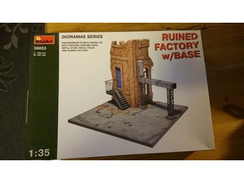 1/35 MINIART RUINED FACTORY WHIT BASE