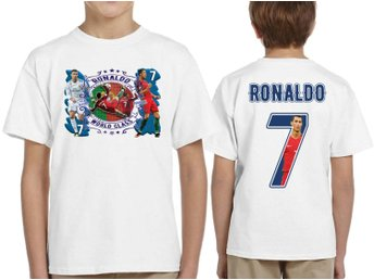 Ronaldo Portugal / Real madrid t-shirt - tryck fram & bak