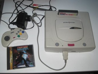 Sega Saturn japanskt med action replay bra skick