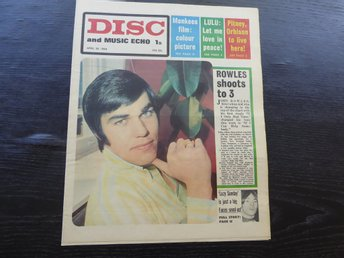 DISC April 20 -68 JOHN ROWLES MONKEES LULU SMALL FACES CREAM KINKS