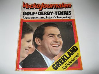 Vecko Journalen 1974-31 Tennis Björn Borg MM Stort Bildrepo