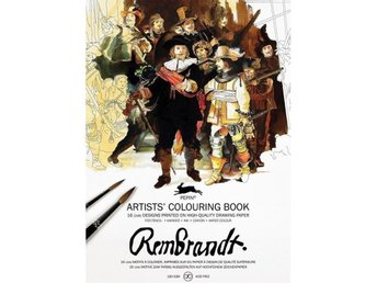 Målarbok, Artists' Colouring Book - Rembrandt - NY!