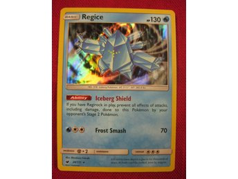 REGICE - RARE HOLO - 130 HP - POKEMON - CRIMSON INVASION 28/111