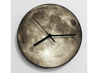 Creative 3D Texture Moon Väggklocka Vardagsrum Bedroom Wall Clock