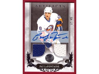 2018-19 Artifacts Autograph Materials Silver #138 Pat LaFontaine/15