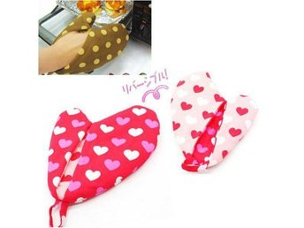 NY! Double-faced Hearts Oven/Ugn Pot Holder Cotton Glove