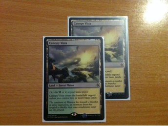 Magic the Gathering, MtG kort, Battle for Zendikar - Canopy Vista NM