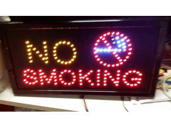 NO SMOKING  LED-skylta 45x26 cm
