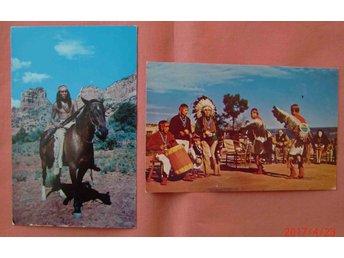 USA 2 vykort indianer Hopi o Apache ofr ca 1960 - Stockholm - USA 2 vykort indianer Hopi o Apache ofr ca 1960 - Stockholm