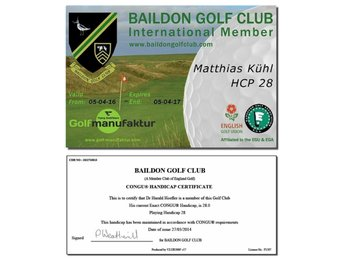 Official CONGU® Golf Handicap Certificate & Golf Membership EGA Affiliated